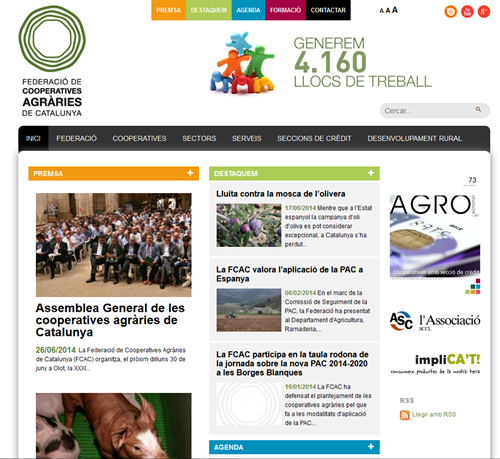 Web cooperatives agràries